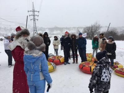 "Today on the Kumysnaya Polyana in Korolkov garden there was a youth festival – a massive sledding ""Let's Go"""