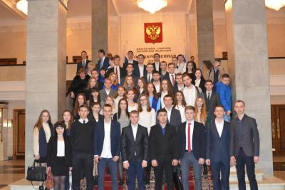 "The winners of the project ""My Choice: Higher Student school of parliamentarism"" visited the  excursion arranged by Nikolai Pankov"