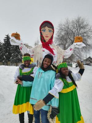 "Foreign students from SSAU at the festival ""Maslenitsa"""