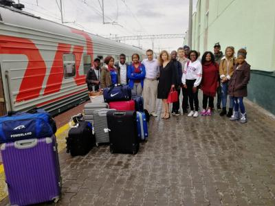 To the Saratov GAU there arrived the group of foreign listeners from the Republic of South Africa