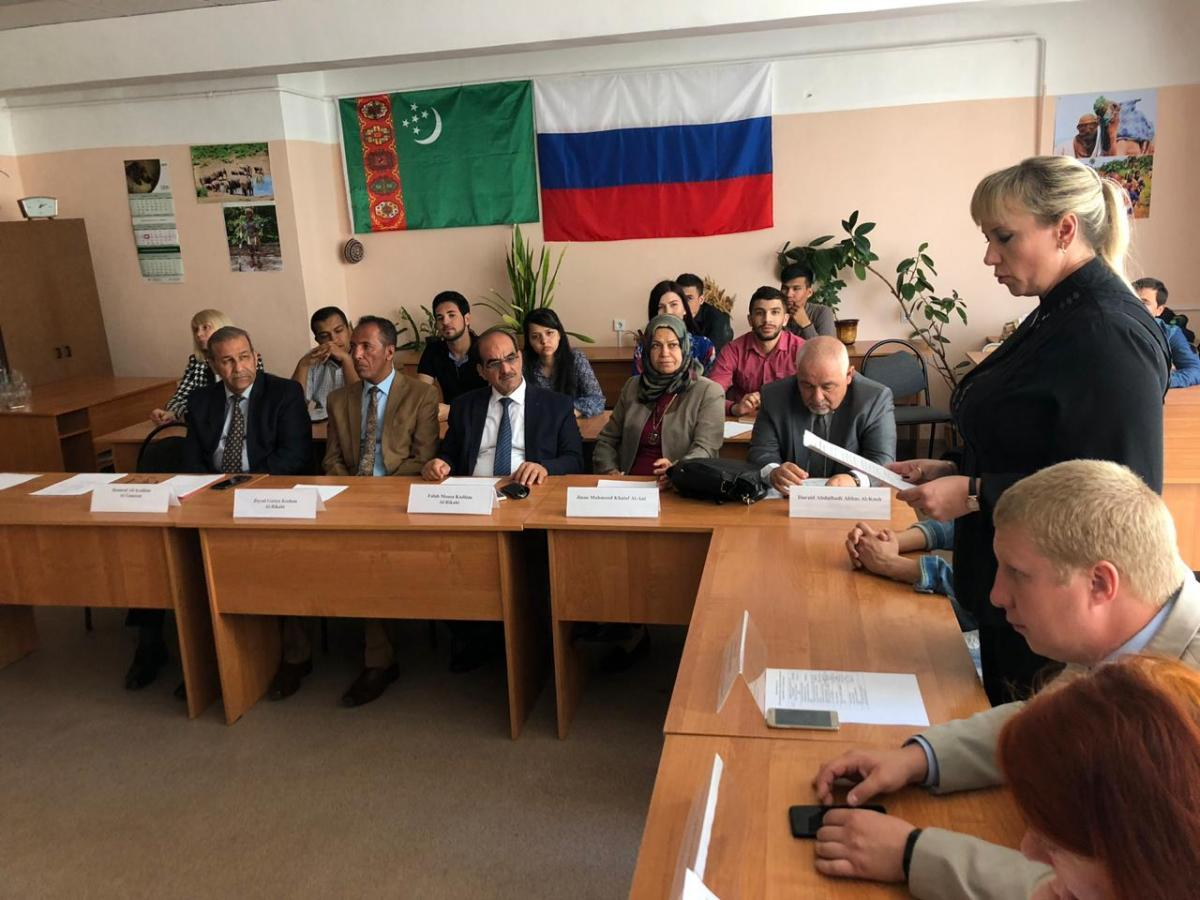 The visit of the Iraqi delegation from the University of Baghdad to the Saratov GAU continues. Фото 4
