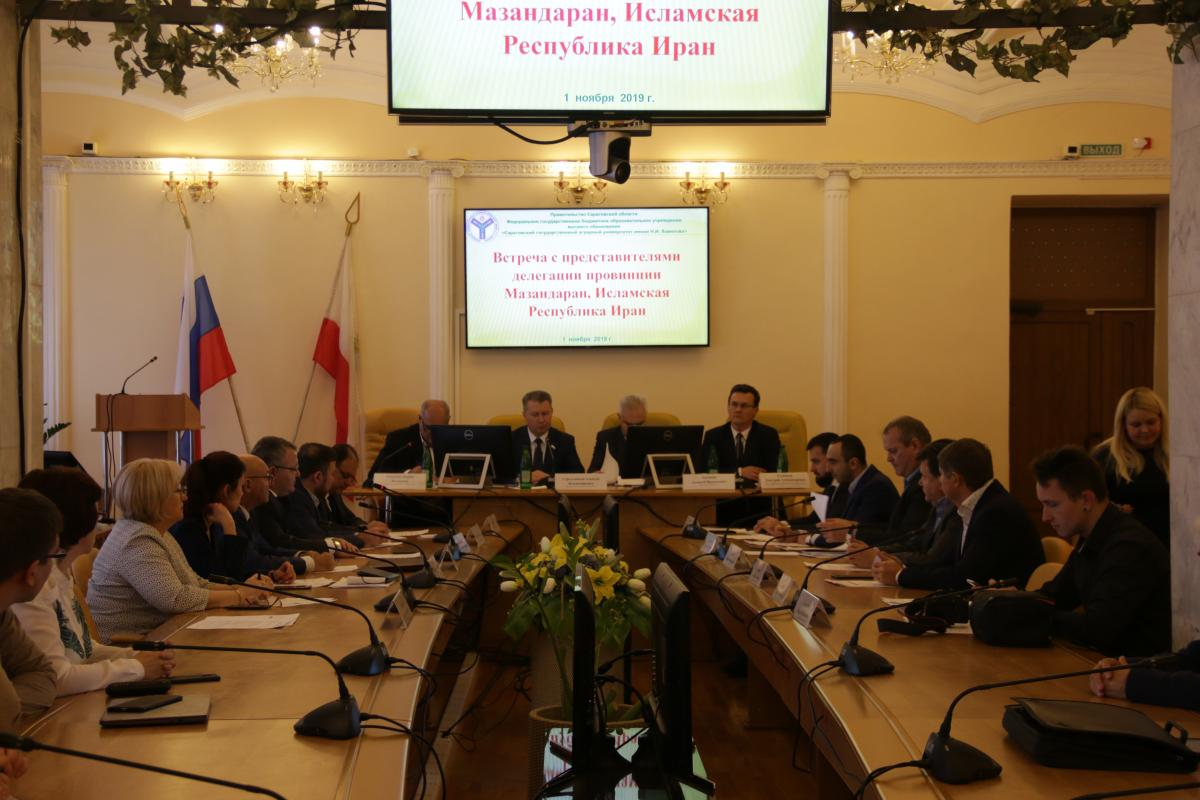Meeting with representatives of the delegation of the province of Mazandaran, Islamic Republic of Iran. Фото 2